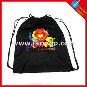 Hotsale Cheap Polyester Drawstring Bag with Logo Printed pictures & photos