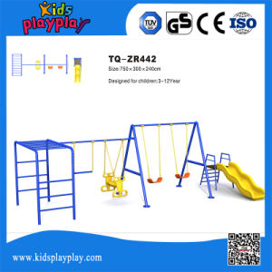 Outdoor Playground Amusement equipment Swing Set with Slide pictures & photos