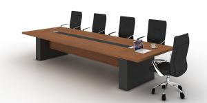 Steel Metal Base MFC Wooden Conference Table /Conference Desk (NS-NW253) pictures & photos