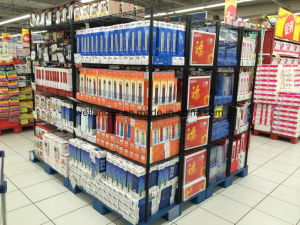 Supermarket Store Promotion Supplies Industrial Display Steel Wire Shelf Shelving Rack pictures & photos