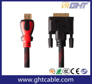High Speed HDMI to DVI Cable with Outer Braiding Jacket pictures & photos