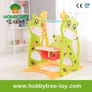 2017 Deer Style Family Indoor Plastic Baby and Kids Swing (HBS17008B) pictures & photos