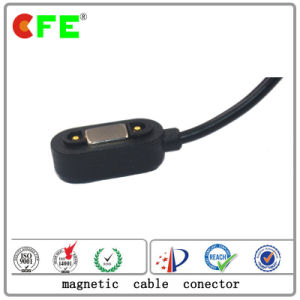 Rectangular Magnetic 2pin Male Charging Cable Connector pictures & photos