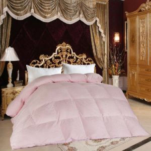 Pink Polyester Peach Skin Microfiber Filled Comforter pictures & photos