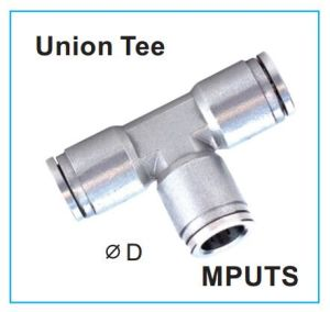 Metal Push-in Fittings Ss316 Union Tee Mputs