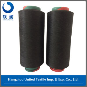 Polyester DTY 150d/144f Black+70d Spandex Yarn Draft 3.20 pictures & photos