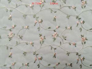 Elegance Mesh Lace Fabric with Embroidery pictures & photos