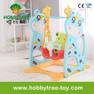 2017 Deer Style Indoor or Outdoor Plastic Baby Swing (HBS17008A) pictures & photos