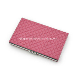 Manufacturer Custom PU & Aluminum Lady′s Card Case pictures & photos