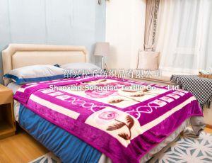 New Design Acrylic Printed Blankets / Raschel Blanket - Flower pictures & photos