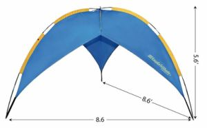 Tri-Shade Beach Umbrella Shelter. This Shelter Is Quick and Easy Shade Solution for The Beach, Camping