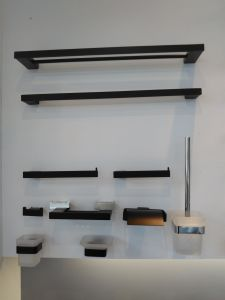 Optional Finish Stainless Steel Shower Rack Bathroom Hanging Shelf pictures & photos