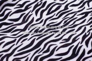 100% Polyester Coral Fleece Blanket - Zebra-Stripe pictures & photos