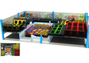 Popular New Trampoline Arena for Kids Trampoline Park pictures & photos