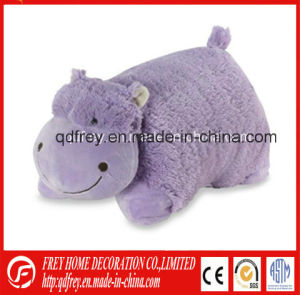 Factory Wholesale Purple Stuffed Hippo Animal Pillow pictures & photos
