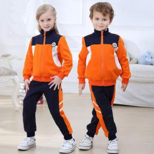 Black Orange Primary School Uniforms Kids School Uniform Design pictures & photos