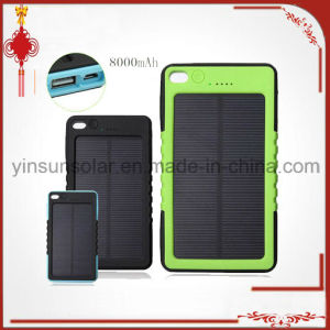 Waterproof 8000mAh Solar Power Bank Mobile Battery Charger pictures & photos