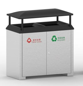 European Style Outdoor Waste Bin From Shining Factory (HW-528) pictures & photos