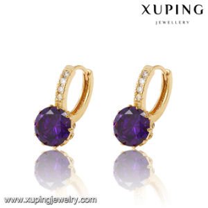 27431 Fashion Hot Sales Diamond Earring Drop in 18k Gold Color pictures & photos