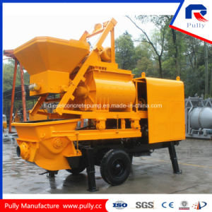 Pully Manufacture New Condition Kawasaki Main Pump Simens Motor Trailer Concrete Pump with Mixer (JBT40-L) pictures & photos