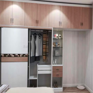 2017 Fashion Modern Melamine Board Wardrobe Wardrobe Wr-04 pictures & photos