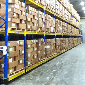 Selective Warehouse Movable Rack with Floor Rail pictures & photos