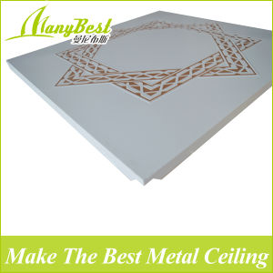 2017 New Design Wooden Grain Color Perforated Aluminum Clip in Ceiling Tiles pictures & photos