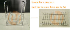Simple Design Three Basket Wire Cart pictures & photos