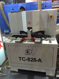 Wood Cabinent Semi Automatic Dual Saw Cutting Machine with 45 Degree (TC-828A) pictures & photos
