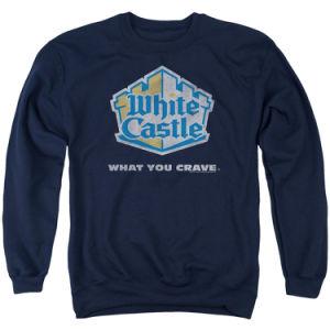 Round Neck Men′s Navy Blue Sweatshirt (A555)