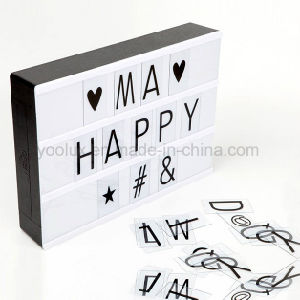 LED Cinematic Light Box DIY Letters Display A4 Light Box pictures & photos