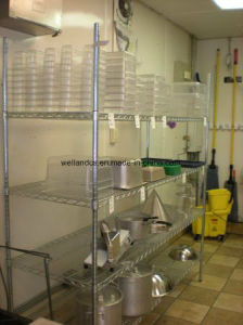 Hotel Restraurant Commercial Kitchen Storage DIY Chrome Metal Wire Shelf Shelving pictures & photos