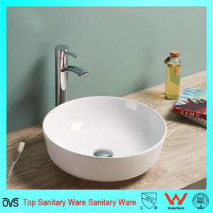 Cheap Price Hot Sale Oval Artificial Stone Thin Edge Basin pictures & photos