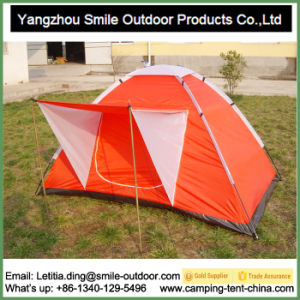 Camping Zip Rapid Korean 2-Person Canvas Dome Cheap Price Tent pictures & photos