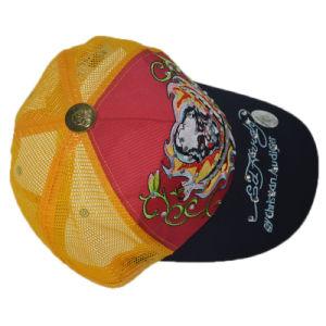 Custom Orange Embroidery Snapback 5 Panel Trucker Cap pictures & photos