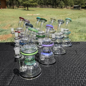 Mix Colorful Glass Smoking Water Pipe Oil Rigs with Inner Recycler pictures & photos