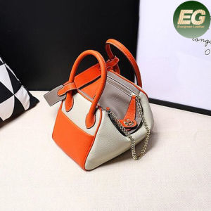 2017 High Quality Leather Handbags Ladies Shoulder Bag Contrast Color Emg4797 pictures & photos