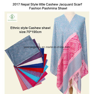 2017 Nepal Style Little Cashew Jacquard Scarf Fashion Pashmina Shawl pictures & photos
