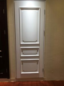 Modern Style Soli Wooden Door HDF for Hotel Apartment School for Middle East with White Colour (DS-022) pictures & photos