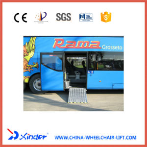 Wheelchair Ramp EMC Certificate Aluminum Loading Ramp for Bus pictures & photos