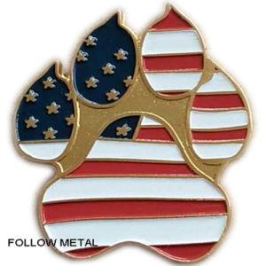 Custom Metal Badge for Flag Logo, Soft Enamel, Gold Plated