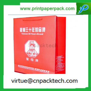 Luxury Customized Red Waterproof Document Paper Bag with Logo pictures & photos