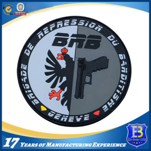 Custom Police Rubber Soft PVC Patch with Magic Tape Backing pictures & photos