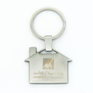 Customized Zinc Alloy House Shape Keychain pictures & photos