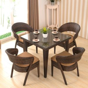 Rattan Outdoor Garden Furniture Set Patio Dining Table Chair Set (Z354) pictures & photos