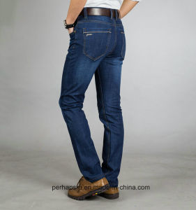 Classical Mens Indigo Leisure Jeans with Light-Washed pictures & photos