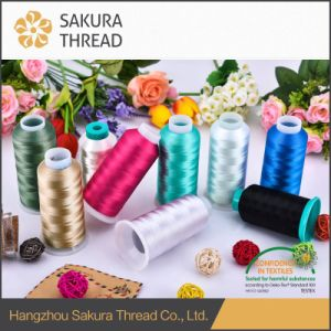 100% Trilobal Polyester Embroidery Thread pictures & photos