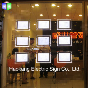 Ceiling Double Side Hanging Acrylic LED Light Box for Real Estate Window Sign pictures & photos