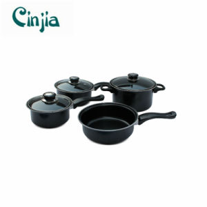 Home Basics Cooking 7 PCS Carbon Steel Cookware Set pictures & photos
