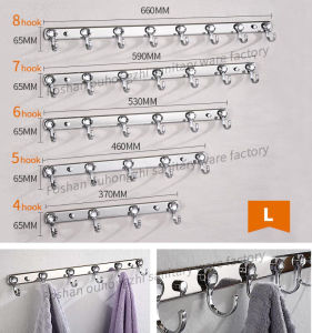 Elegant Oval Stainless 304 Towel Hanger Coat Robe Hook (S-L) pictures & photos